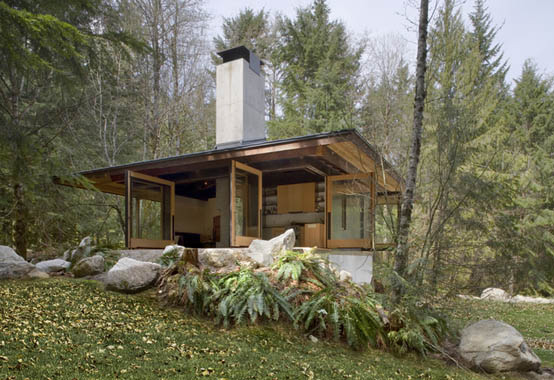 compact river cabin design washington 1 Compact River Cabin Design in Washington