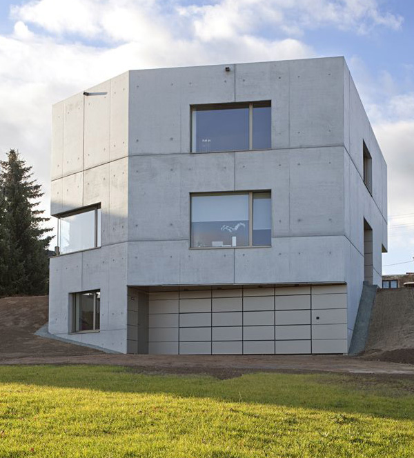 Concrete Home Designs Zwickau Germany 11
