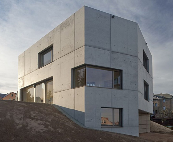 Concrete Home Designs Zwickau Germany 9 Concrete Home Designs Minimalist In  Germany Part 73