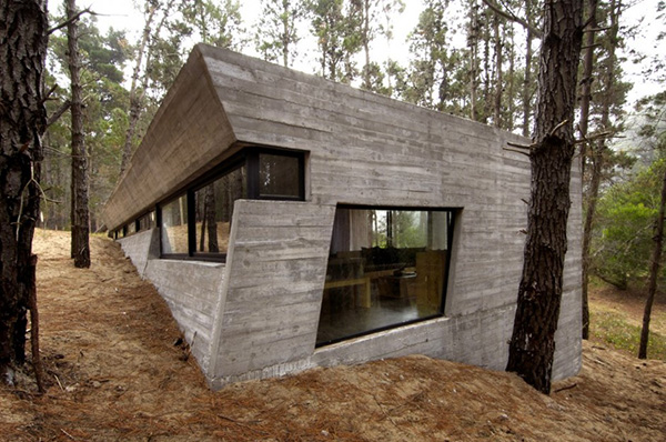 concrete house plan bak architects argentina 1