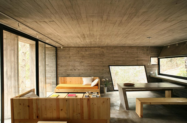 concrete house plan bak architects argentina 15