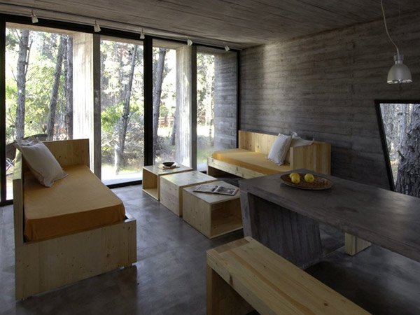 concrete house plan bak architects argentina 19