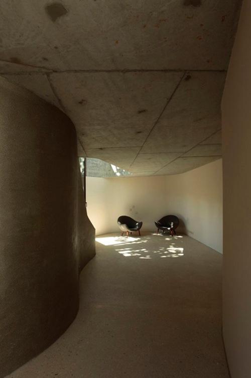concrete tower house minimalist living 3