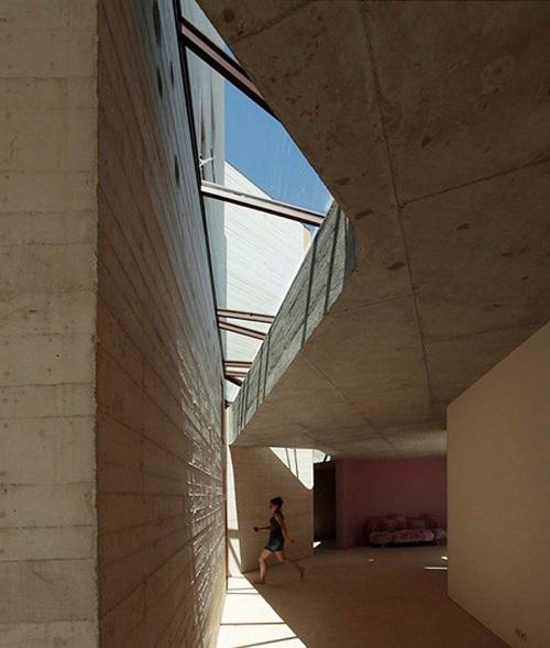 concrete tower house minimalist living 5