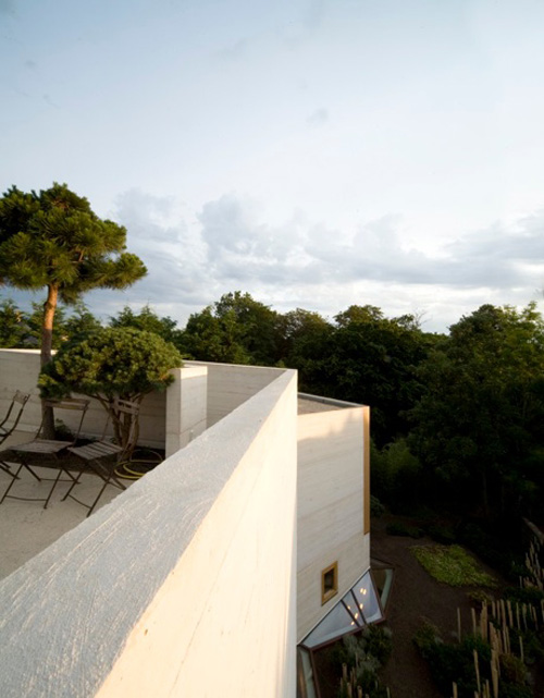 concrete tower house minimalist living 7