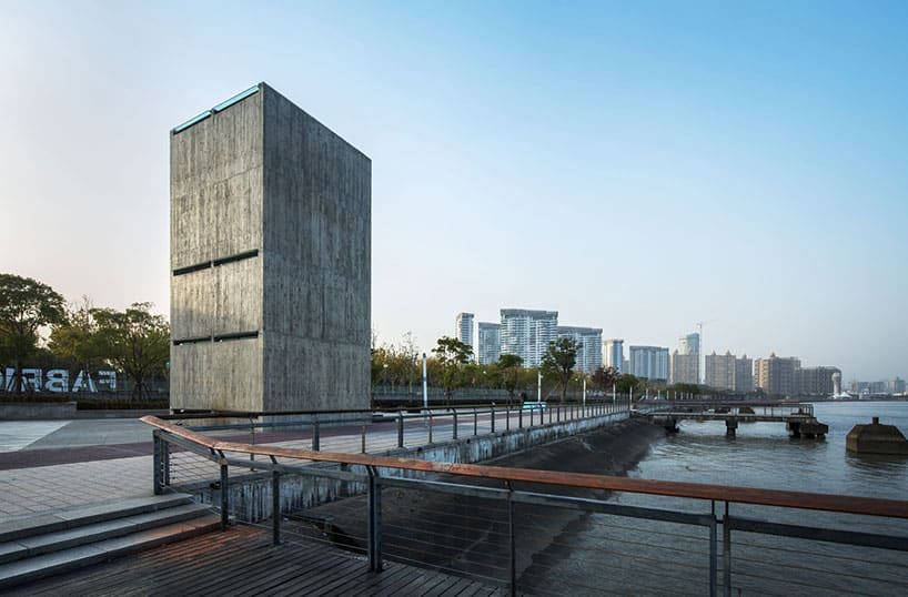 Concrete Tower House With See-Through Floors