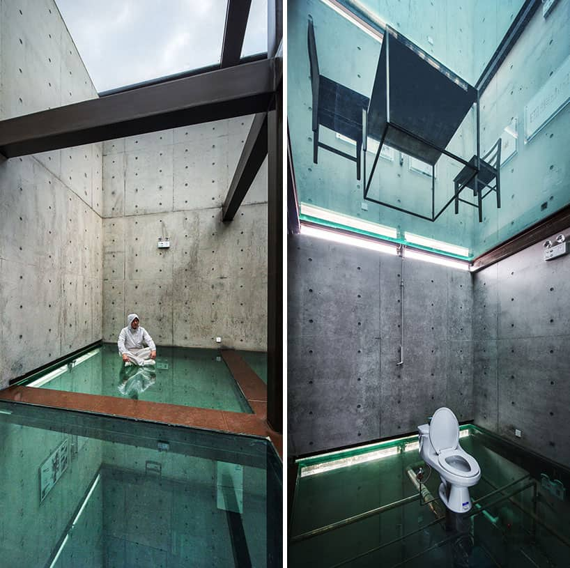 Concrete Tower House With See Through Floors