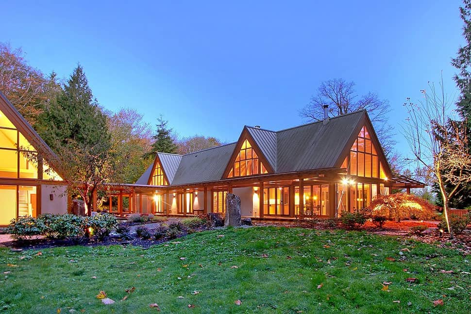 Cabin Chic Mountain Home of Glass and Wood | Modern House ... on Glass House Design Ideas  id=50787