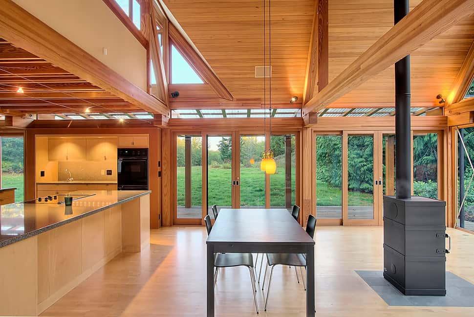 טברובסקי אדריכלות: Cabin Chic Mountain Home of Glass and Wood on Modern Glass House  id=93958