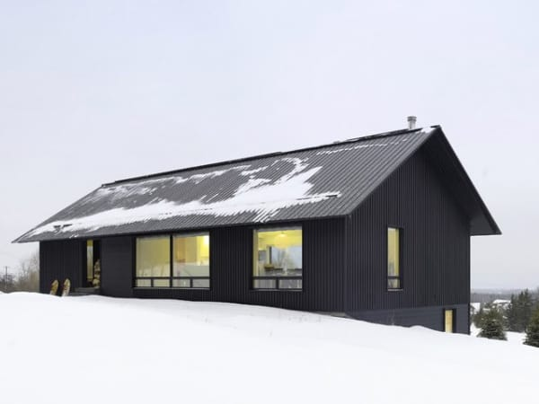 Contemporary chalet house plans canadian winter wonderland for Chalet moderne plan
