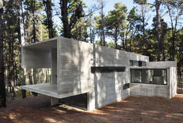 contemporary concrete cottage where man nature collide 1 Contemporary Concrete Cottage Where Man and Nature Collide