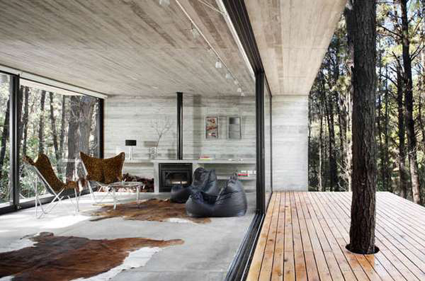 contemporary concrete cottage where man nature collide 2 Contemporary Concrete Cottage Where Man and Nature Collide