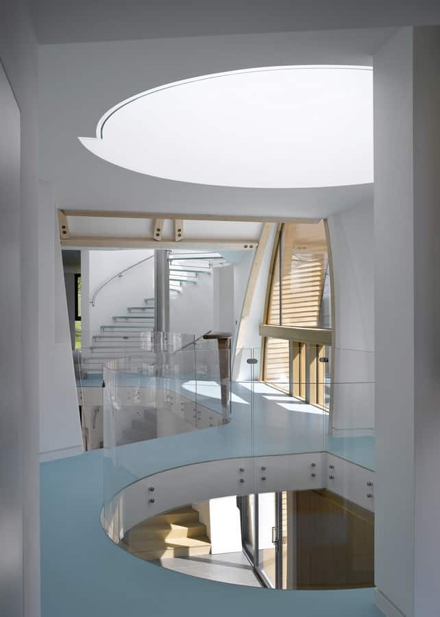 Astonishing Contemporary Countryside Home With Oval Entrance And Download Free Architecture Designs Sospemadebymaigaardcom