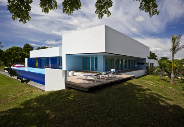contemporary pool houses true blue modern home 2 Contemporary Pool Houses – True Blue Home