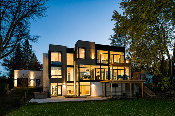 Contemporary Style House Designed With Nature In Mind Gl Walls And Riverfront Views
