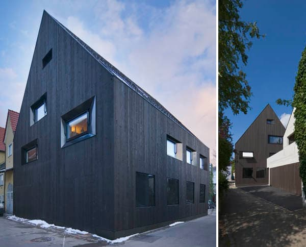 Contemporary timber house german city home for Contemporary timber homes