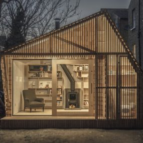 Contemporary Writing Shed Hidden In Urban Environment
