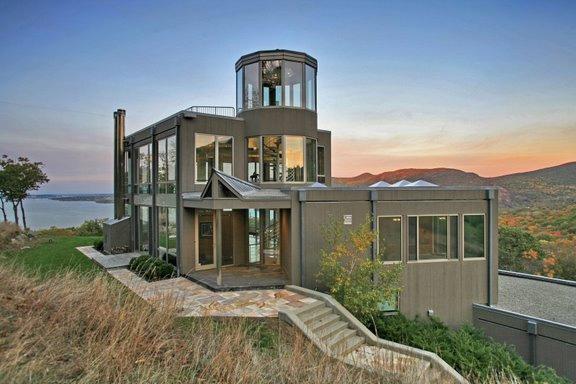 Contemporary Glass House Near West Point, New York ... on Glass House Design Ideas  id=17650