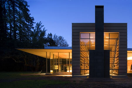 creekside residence 1 Modern Wooden Cabin on Two Creeks in California by Bohlin Cywinski Jackson