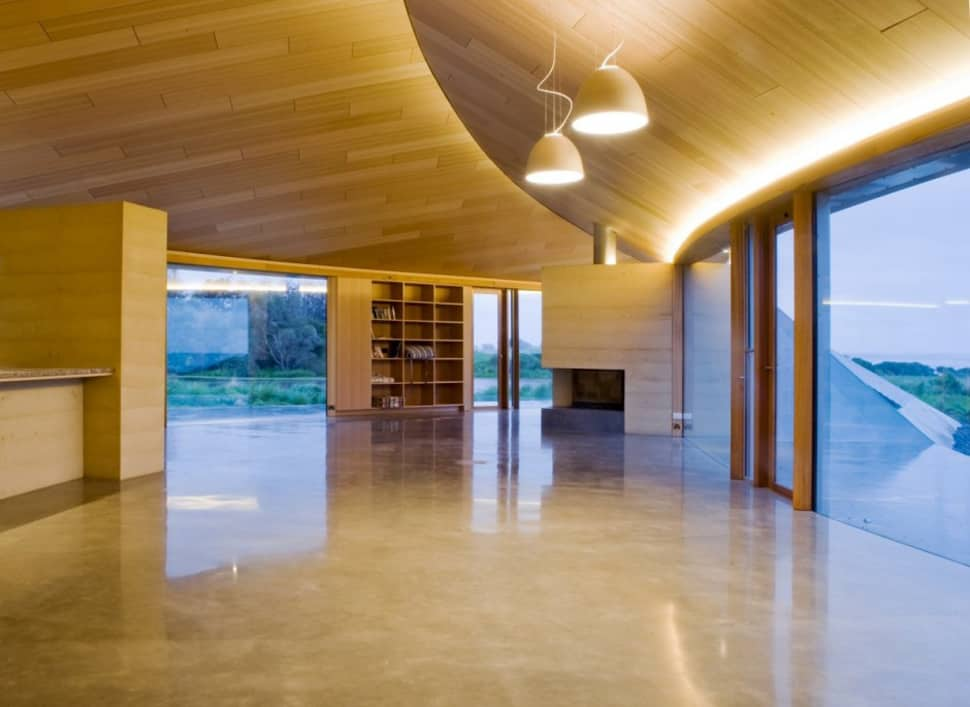 View In Gallery Crescent Shaped Croft House With Curved Roof And