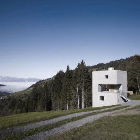 Cubic Concrete Mountain Cabin by Marte.Marte Architekten