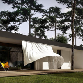 Curious, Contemporary Curtain House in Poland
