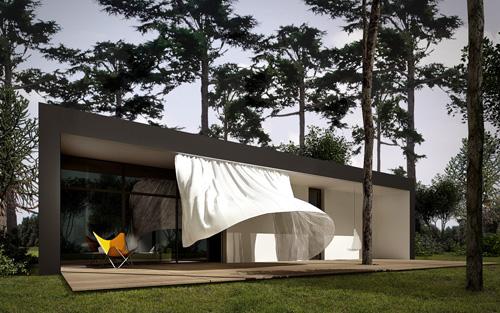 curtain house 1 Curious, Contemporary Curtain House in Poland