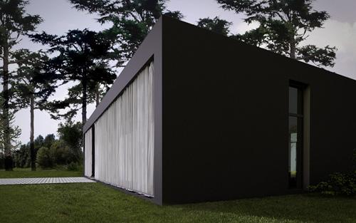 curtain house 2 Curious, Contemporary Curtain House in Poland