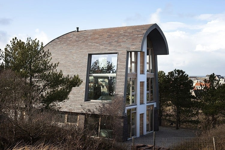 view in gallery curved roof house with tiled exterior 3jpg - Curved Roof
