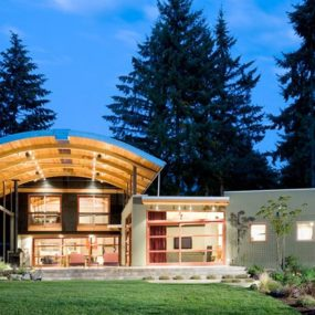 Arched Timber Roof House is an amazing party shack