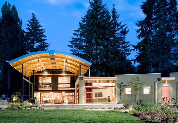 curved roof houses seattle home 1 Arched Timber Roof House is an amazing party shack