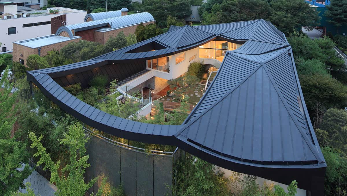 cutout roof design - Blue House Design