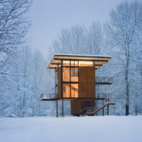 Amazing Weekend Cabin in Washington State – Modern Delta Shelter Design