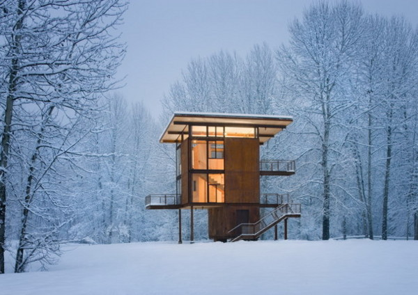 delta shelter 1 Amazing Weekend Cabin in Washington State – Modern Delta Shelter Design