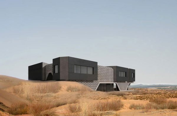 dune house 1 Concrete House Design in China   Nature Inspired Dune Home in Inner Mongolia