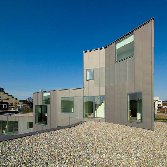 dutch house design 6 Brick House Design in Netherlands   asymmetrical, with two faces