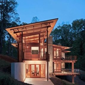 Earthy style and setting, Earth-friendly by design: Contemporary wood home has it all