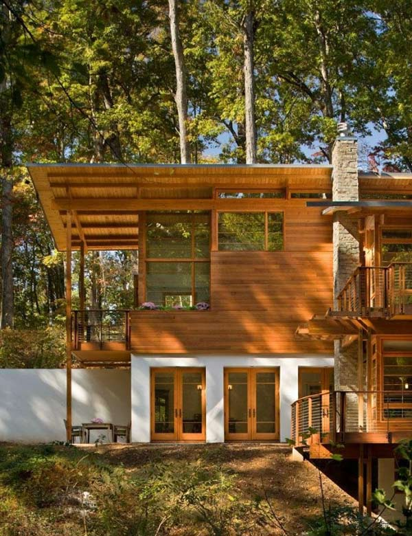 earth friendly contemporary wood home 3
