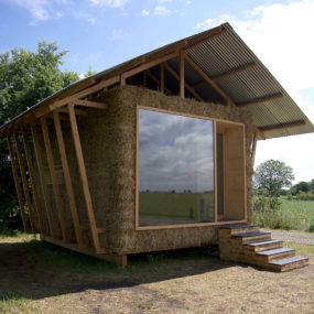 Eco-Friendly House Study With Walls Of Packed Straw