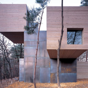Modern Norwegian Architecture – wood and steel house design in Korea