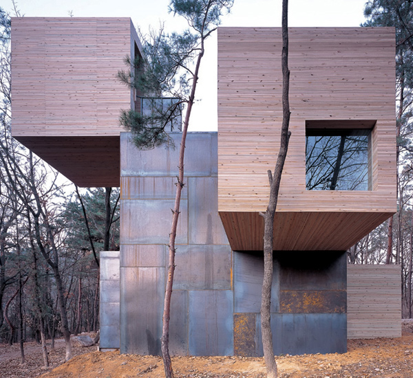 Element House 1 Modern Norwegian Architecture Wood And Steel House Design  In Korea