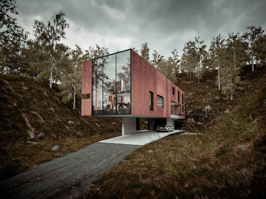 Elevated house built on pillars solutioingenieria Images