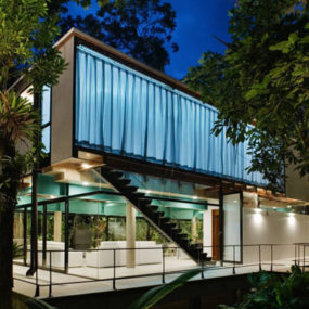 Exotic Jungle House Offers Multi Level Living Behind Glass Walls