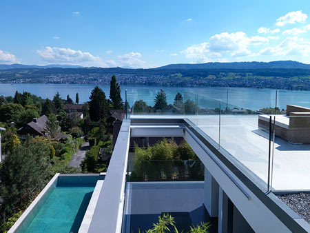 feldbalz house 4 Contemporary House on Lake Zurich, Switzerland   Stylish, Sculptural