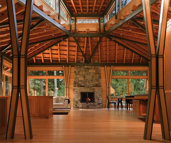 finne house 4 Luxury Wooden House Among the Trees of Rural Seattle