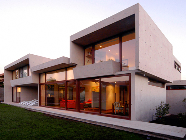Fleischmann ossa house 1 concrete home architecture decorated with sunlight