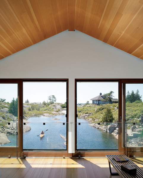 floating house integrated boathouse dock 6