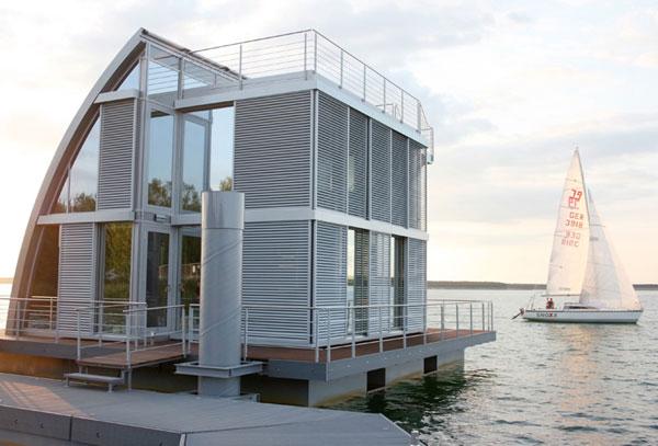 floating lake house 1 Floating Lake House Inspired by Sailboats