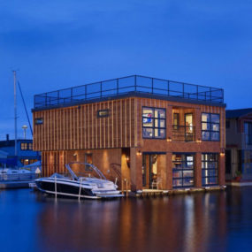 Floating Lake House, Boat-Inspired Living