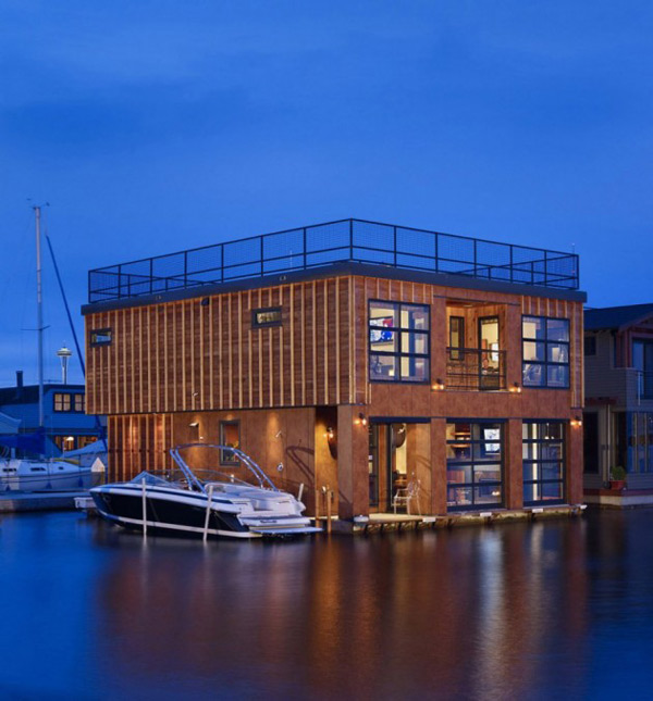 floating lake house boat inspired living 1 Floating Lake House, Boat Inspired Living